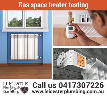 Gas space heater testing for Gippsland