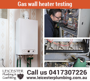 Gas wall heater testing for Gippsland