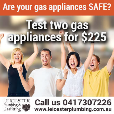 Test two gas appliances for $120 dollars